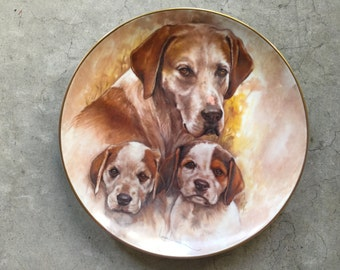 """Kern Collectible """"Pointers"""" 1983 Limited Edition Plate"""