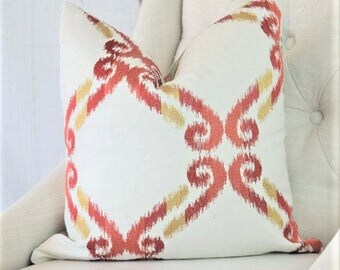 Euro Pillow Cover, Designer Pillow, 28x28, 30x30, Accent Pillow, Throw Pillows, 0311714 Poppy