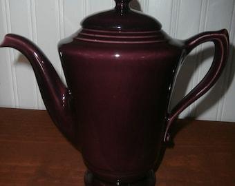 Vintage kitchen coffee pot Gladding Mcbean Franciscan Montecito eggplant glaze