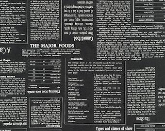 In The Press - Newspaper in Black - Sevenberry - Robert Kaufman (SB-83020D1-5)