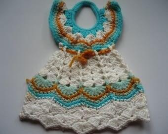 Dress Style Crocheted Pan/Pot Holder