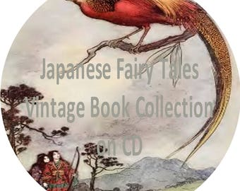 Japanese Fairy Tales & Folk Stories CD Vintage Book Collection 30 Collectible, Rare, Old, Antique Books on CD