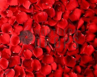 Product Photography Backdrop - RED ROSE PETALS Backdrop - Red rose petal printed background - Christmas holiday photo backdrop - 3 sizes