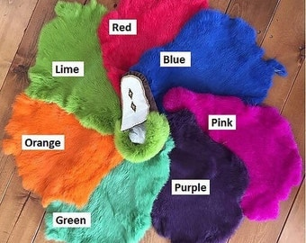 Coloured Rabbit Furs