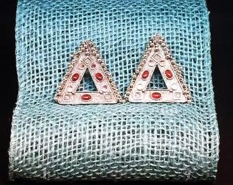 Vintage Boho Chic Triangle Earrings