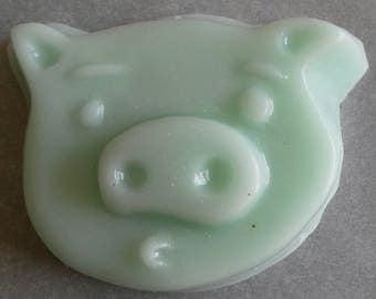 Cotton Candy Goat's Milk Pig Face Soap (2.5 oz)