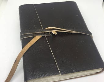 Medium leatherbound journal- 25% cotton paper