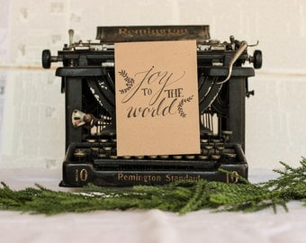 Joy to the World Christmas Card : Black Inkwell