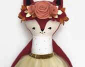 Fox Rag Doll Girl, Fox Doll, Fox Stuffed Animal, Fox Doll, Cloth Doll, Fabric Doll, Doll Clothes, Gifts for Girls, Gifts for Babies