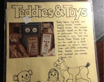 Teddies and Toys Cross Stitch Kit