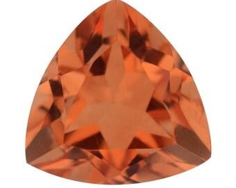 Imperial Orange Triplet Quartz Trillion Cut Loose Gemstone 1A Quality 10mm TGW 3.75 cts.