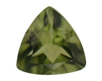 Moldavite Loose Gemstone Trillion Cut 1A Quality 5mm TGW 0.25 Cts.