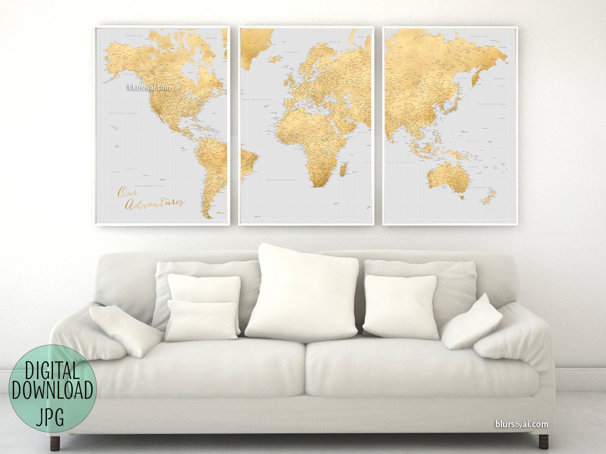 Printable large world map for making a diy push pin map pin your this is a digital file gumiabroncs Images