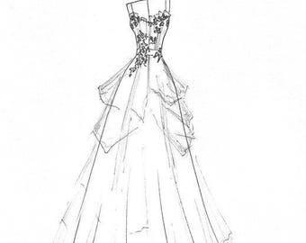 Custom Wedding Dress by Kansas City Designer