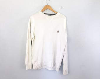 chaps polo pull over sweater, size medium