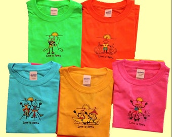 Youth T Shirts-Original Designs-Love is Real-Bright Neon Colors-Unique Gifts-Inspirational Tees-Kids T Shirts-Youth T Shirts-Short Sleeve T