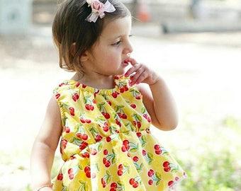 Cherry Peplum Tank - cherries - cherry - peplum-  cotton candy