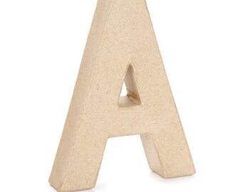 Paper Mache Letter -A - 6 inches,Unfinished Mache, Embellishment Letter,Cardboard letter, Alphabet Décor