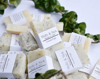 Natural Soap Wedding Favors, Custom, Bridal Shower Favors, Baby Shower Favors , wedding favors, rustic wedding favor, mini soaps