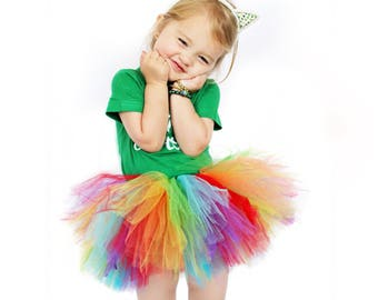 Rainbow Tutu, Colorful Tutu, Birthday Tutu, Rainbow Party, Birthday Tutu, Dress up, Cake Smash Tutu, Rainbow Outfit
