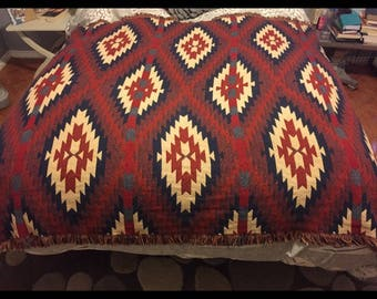 Stunning Bob Timberlake Collection Southwestern Throw Blanket Made in USA Lake House Cabin Lodge 100% Cotton