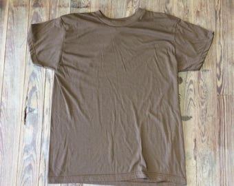 Vintage military brown shirt