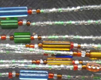 Beautiful African  Waist Beads: Ghana Waist Beads with contemporary accent, Waist beads, Waist trainer.