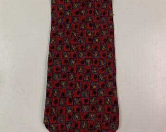 Tequila Vintage Art Deco Silk Necktie