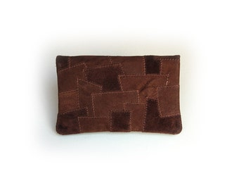 Tobacco pouch from wild and nubuck leather-Patchwork-
