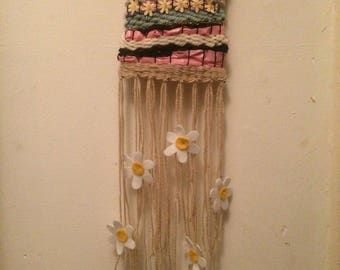 Spring-Time Daisy Woven Wall Hanging