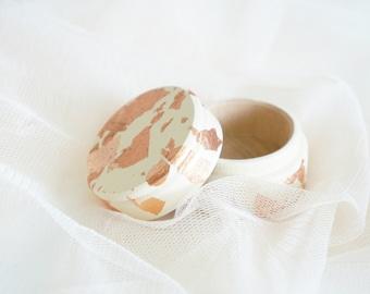 Rose Gold ring box, Rosegold ring box, Ring bearer pillow alternative, Ring bearer rose gold box, Proposal ring holder, Rose Gold wedding