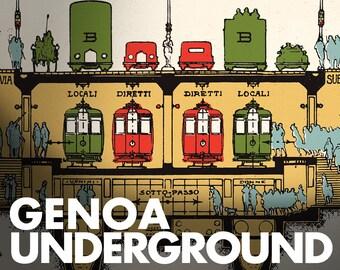 GENOA Via xx Settembre - underground - FREE shipping