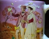Walt Disney Mary Poppins Coffee Mug Made In Japan Pink