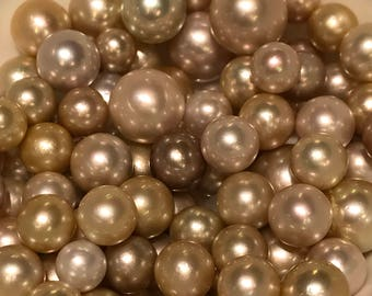 South Sea Pearls, natural color, Round shape (#135)