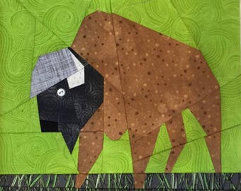 Buffalo Paper Pieced Block Pattern in PDF
