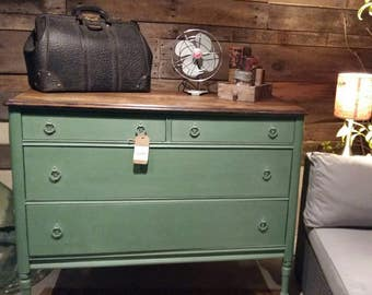 SOLD - Antique Dresser spruced up with Chalk Paint - SOLD