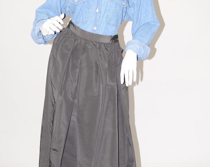 Vintage Estate Charcoal Grey Ball Formal Skirt Pockets