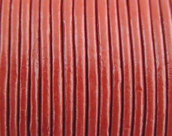 2mm Red Leather Cord 10 Yards
