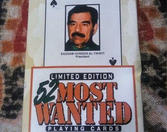 Desert Storm Most Wanted Playing Cards 1990's Rare Vintage