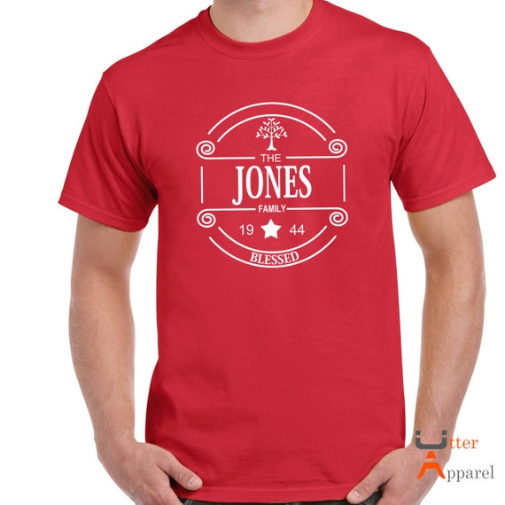 Jones Family Red Crew Neck T-shirt (Men's and youth)