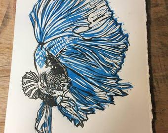 Custom Betta Fish Print