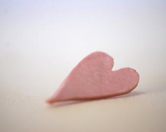 Porcelain hearts brooch