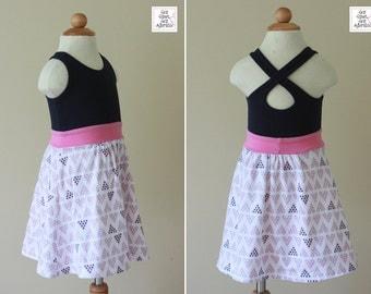 Girl's Sundress - CUSTOM - You Pick Fabric - Criss Cross Dress - Cross Back Dress - Summer Dress - Sundress - Keyhole Dress - Play Dress