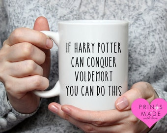 Harry Potter themed mug wizard mug motivational voldermort unique