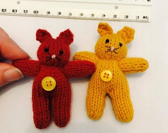 Mini Kitten / Cats - Knitted - 8cm - Various Colours!