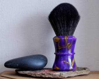 Shaving Brush - Elegance Resin Lathe-Turned Handle with Synthetic BOSS Knot