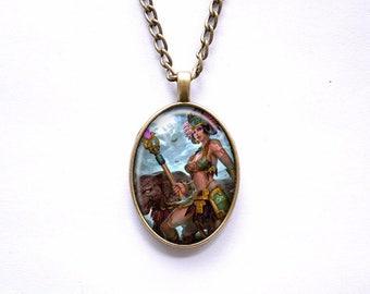 Necklace Smite Mayan goddess Awilix Goddess of the Moon