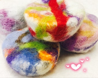 Felted Alpaca & Goats Milk Soap Bars