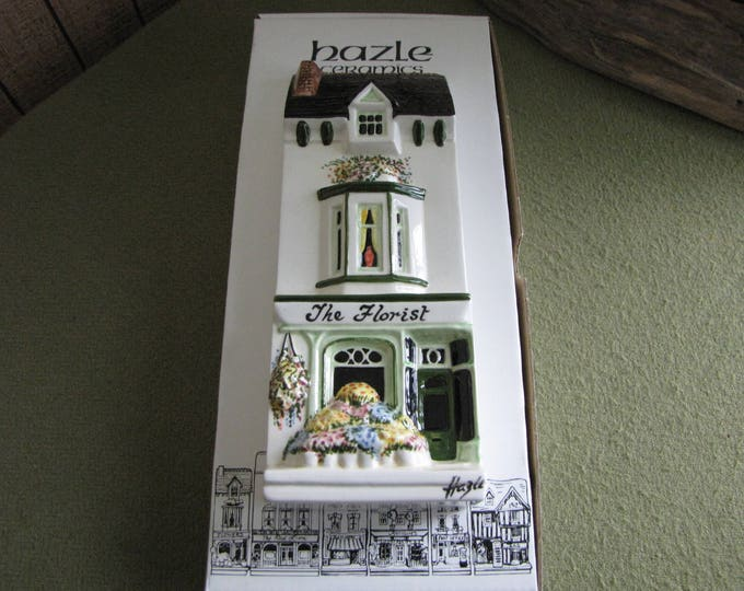 Vintage Hazle Ceramics The Florist A Nation of Shopkeepers Hand Painted in England High Street