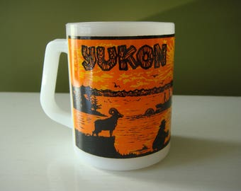 Vintage Yukon Mug - Federal Milk Glass Mug
